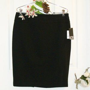 LIZ CLAIBORNE Pencil Skirt Black Pinstripe NWT
